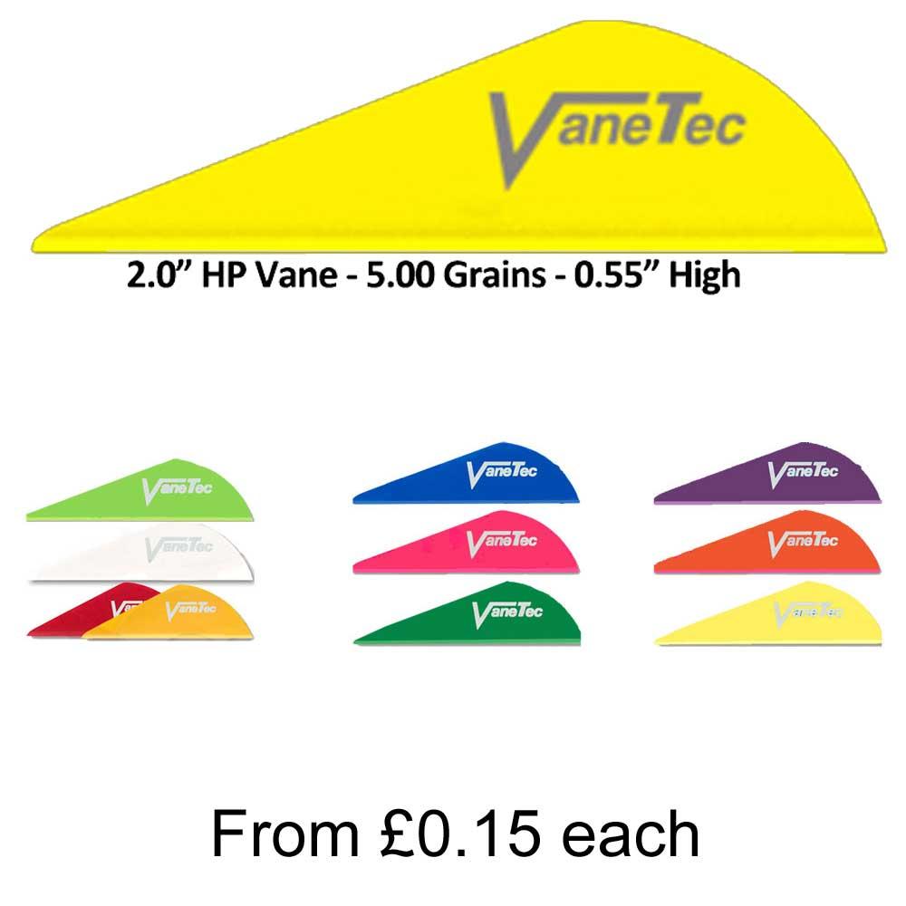 VaneTec HP Vanes Flo Green 2 in 100 pk.
