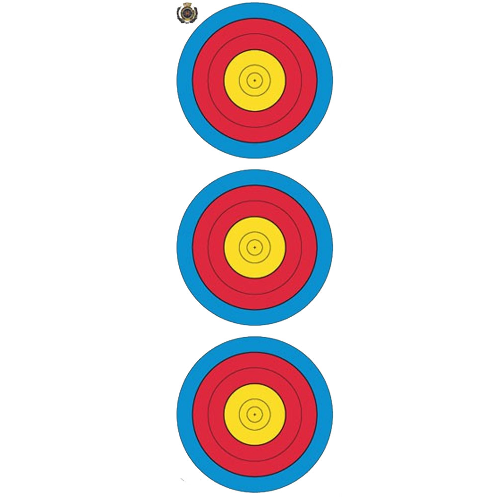 The Archery Company Fita Vertical 3 Spot Target Face